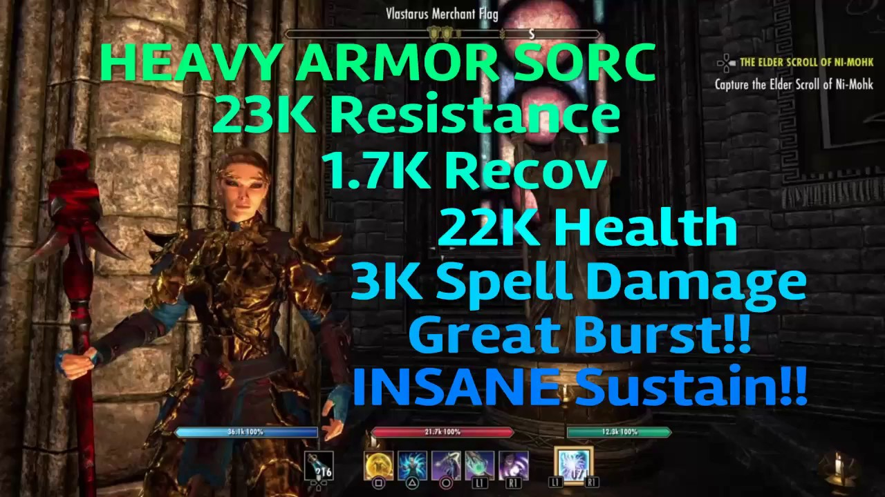 Eso Best Set For Sorcerer 2020 ESO: FATE   Magicka Sorcerer HEAVY ARMOR PvP Build for Morrowind