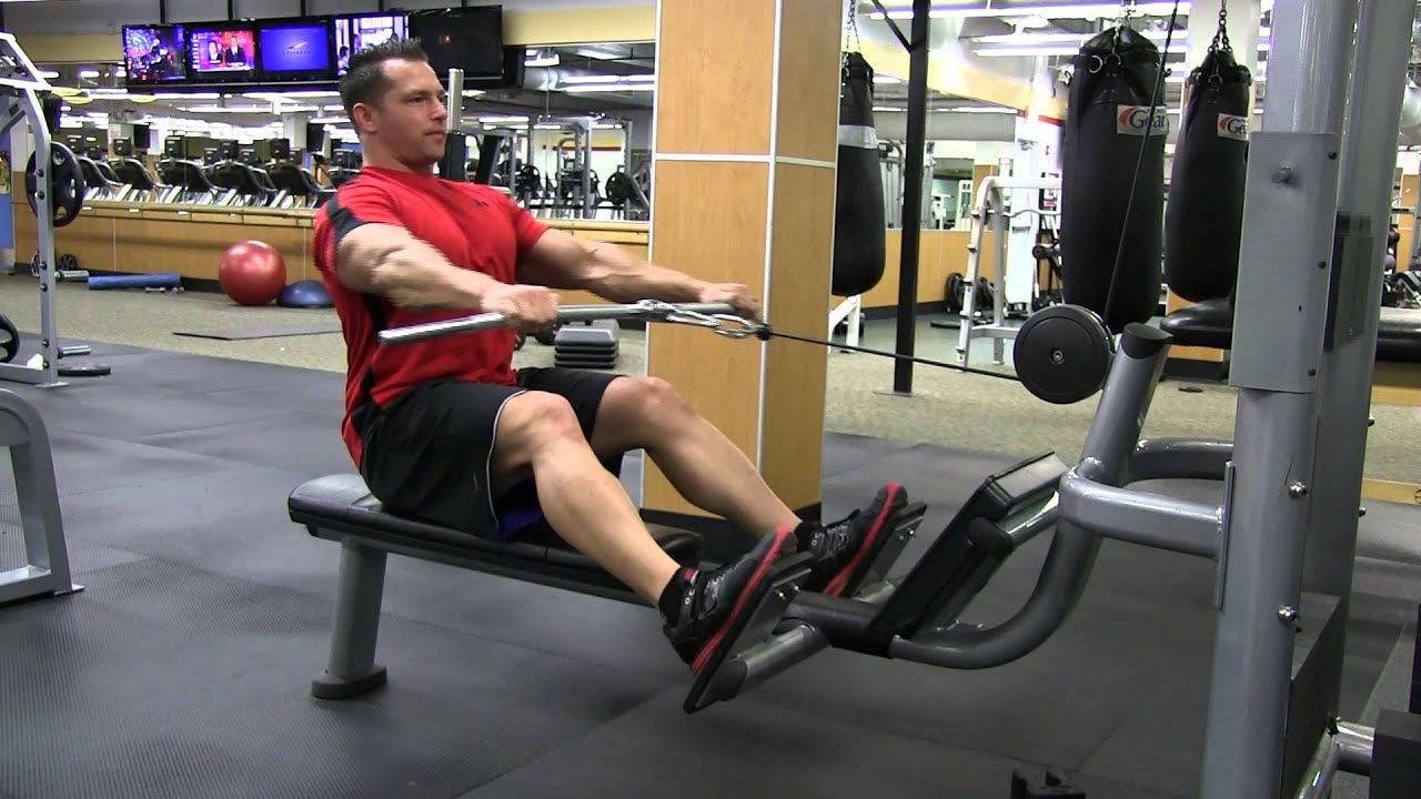 Straight Bar Seated Cable Low Row Youtube