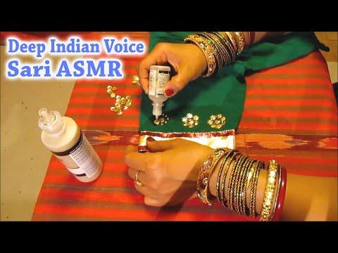 Unintentional ASMR 👚 Sari Decoration Compilation (deep female Indian accent, jangling bangles)