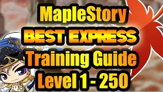 MapleStory : The Best Express Power Training Guide for all Jobs All Classes Level 1 - 250