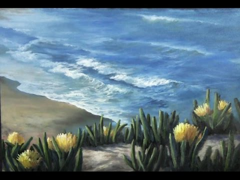 Oil Painting Ventura Beach Coastline Paint With Kevin
