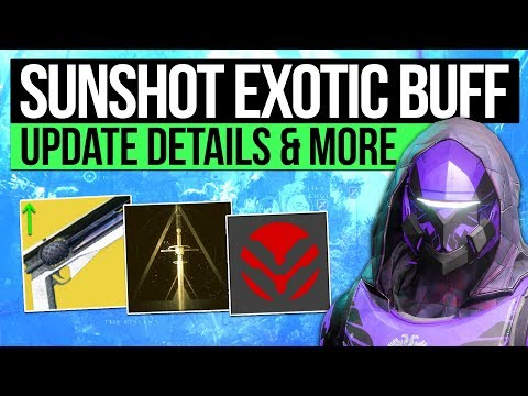 Destiny 2 News | SUNSHOT BUFF & WEAPON CHANGES! - Future Content, New Community Manager & More!