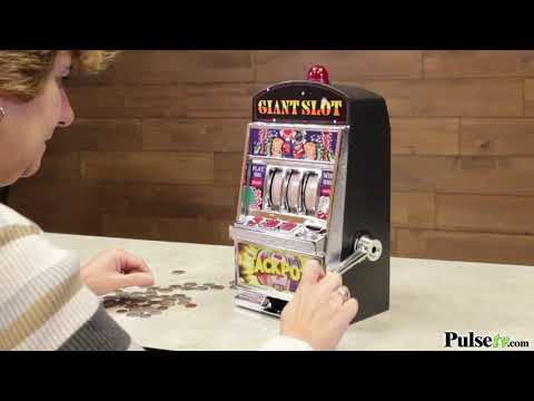Giant Slot Machine Bank - Plays & Pays Like a Real Slot Machine