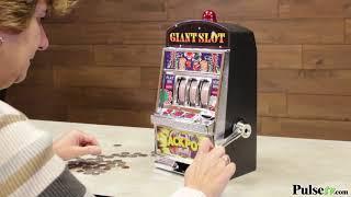 Giant Slot Machine Bank - Plays & Pays Like a Real Slot Machine