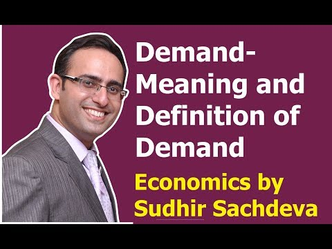 #12 Economics || Demand (Meaning and Definition of Demand ) || Desire, want and Demand