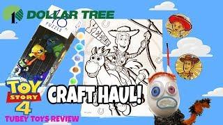 Toy Story 4 Dollar Tree Haul Craft Paint Sets, Halloween Haul Tubey Toys