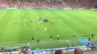 Panique au vélodrome euro Portugal Pologne