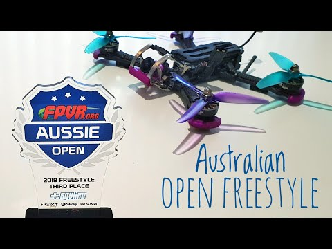 Australian Open Drone Freestyle 2018. I came third!