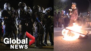 Portland protests: Police declare protest a riot as demonstrators call for mayor's resignation