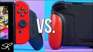 Nintendo Switch Handheld Grip FACEOFF | Satisfye Pro Grip vs Skull and Co GripCase