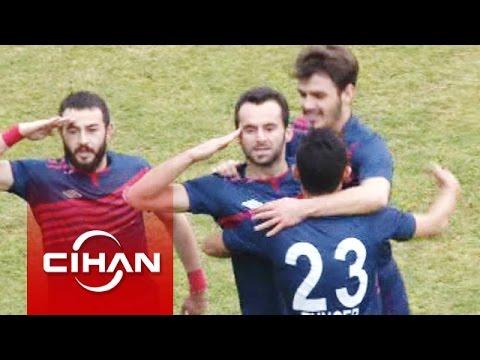 Van'daki maçta Bergamasporlu futbolcu asker selamı verince ortalık karıştı