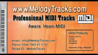 Awara hoon MIDI - www.MelodyTracks.com