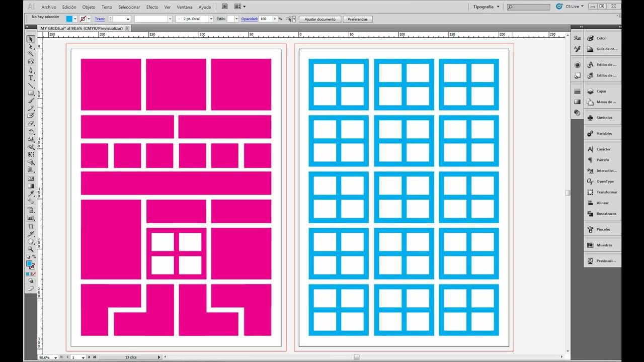how to set up a logarithmic grid in illustrator