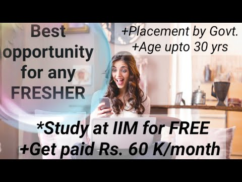 March 2021 Job Recruitment for all Freshers | IIM Fellowship MGNF by Govt. Of India Vacancies