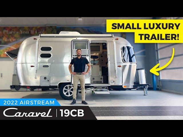 Small Luxury RV Travel Trailer | 2022 Airstream Caravel 19CB Walkthrough - Light Weight Camper