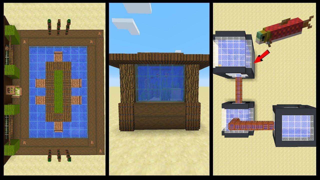 10 Minecraft Aquarium Designs Youtube Aquarium Design