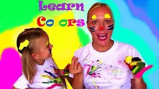 Learn Colors with Katya and Mom / Учим цвета с Катей и Мамой на английском