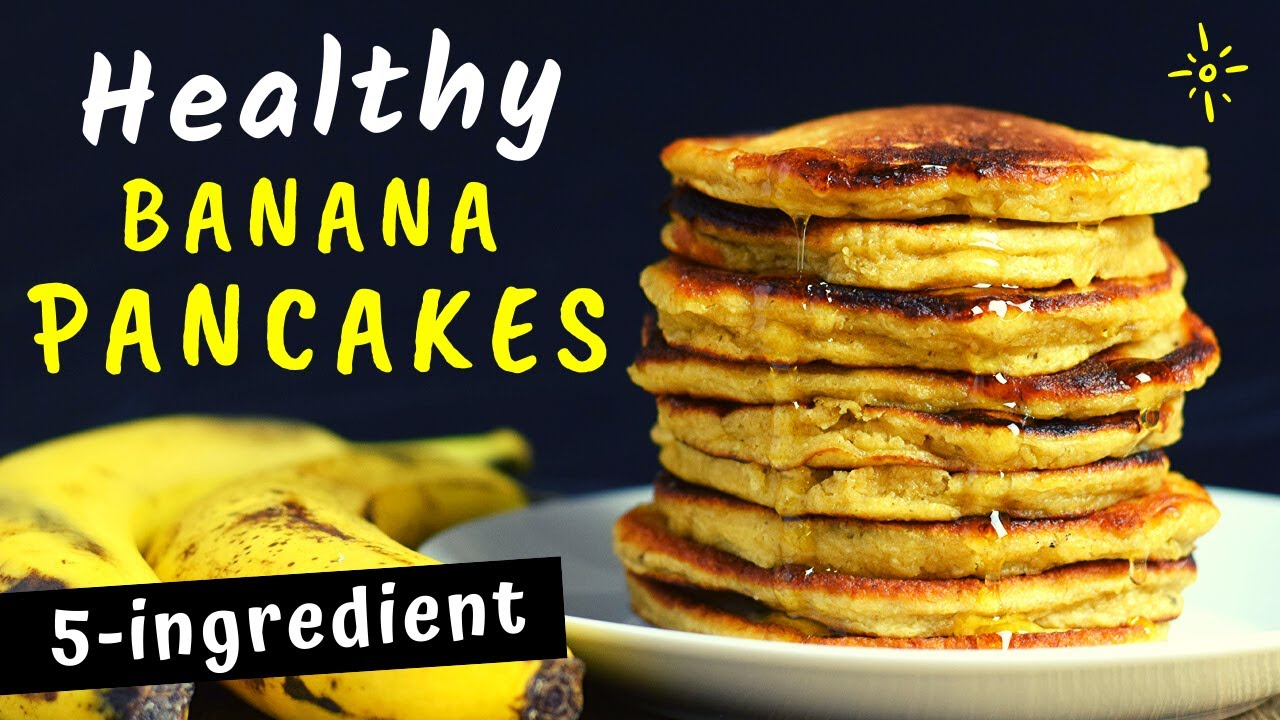 Easy and Healthy Banana Oatmeal Pancakes (5 ingredients only!)