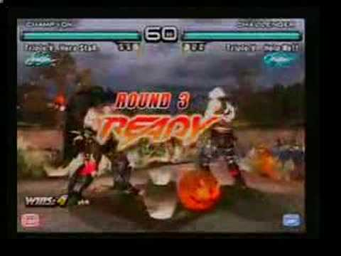 Tekken 5 DR Hero Star = Knee(Devil Jin) Vs Help Me (Lee)