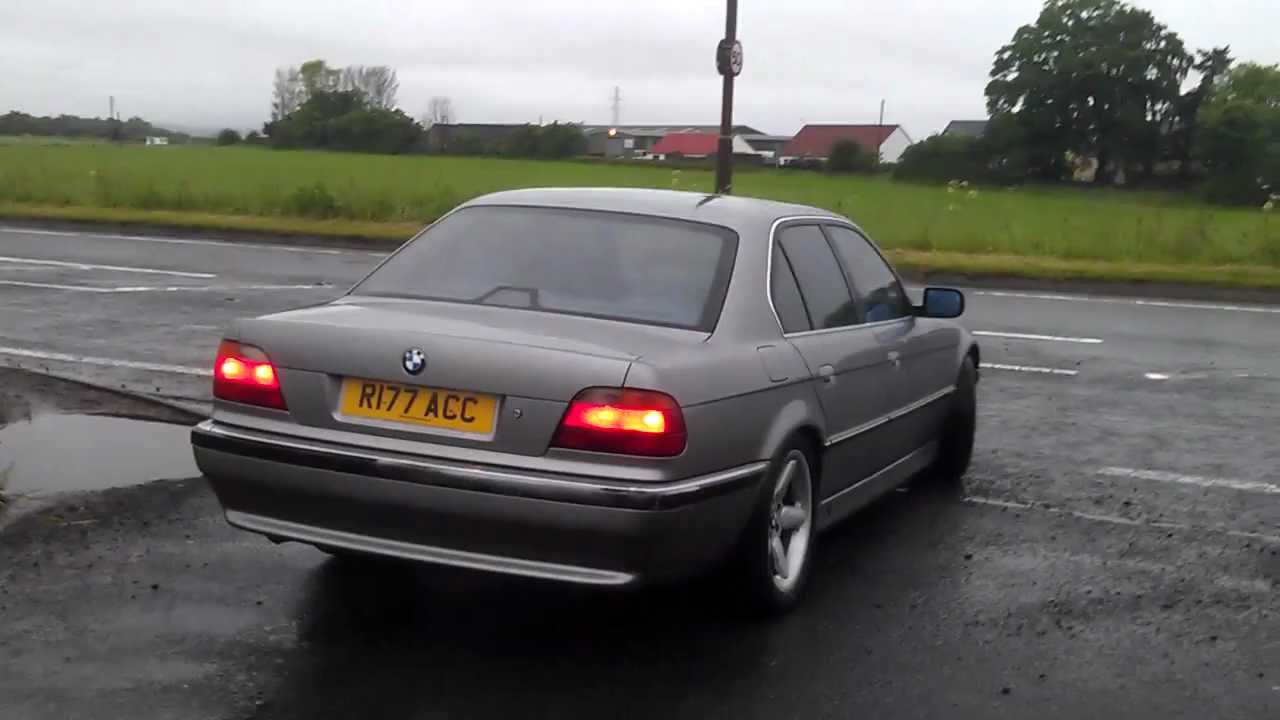1997 bmw 740i e38 with rear mufflers removed 2 youtube. Black Bedroom Furniture Sets. Home Design Ideas