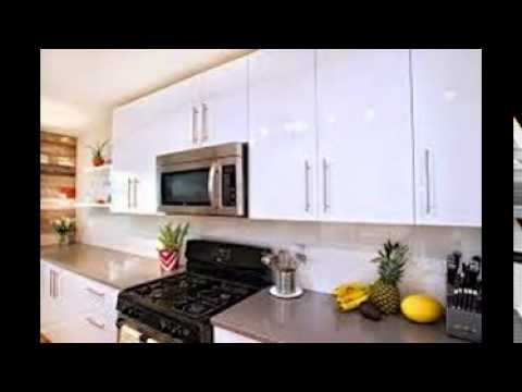 High Gloss White Kitchen Cabinets - YouTube