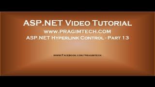 ASP NET Hyperlink control   Part 13