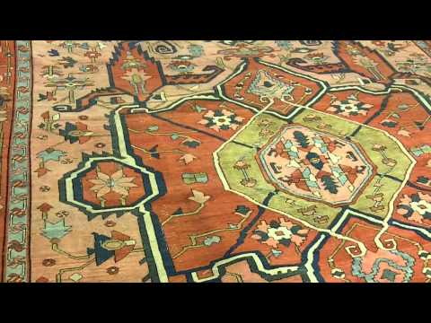 Antique Serapi Carpet.MOV