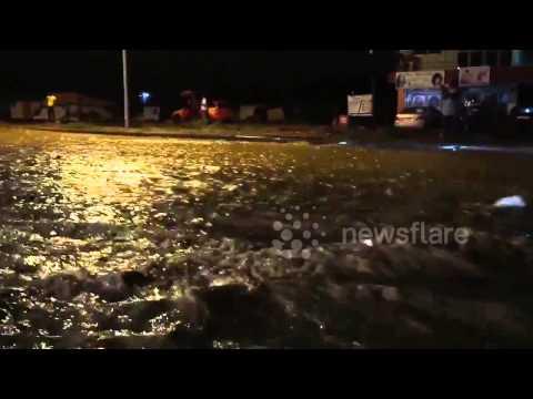Heavy flooding in Accra, Ghana