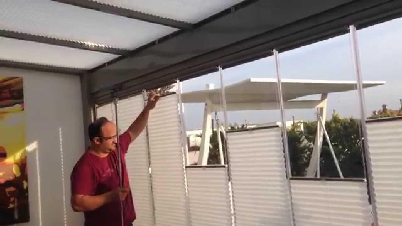 Cam Balkon Perdesi Plise Perde Youtube