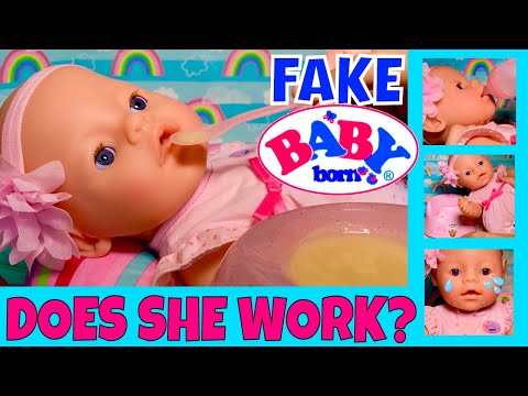 🍼Fake Baby Born Doll Feeding! 🤗We Tried It All: Drink & Wet, Potty, Crying. But Does She Work?🤔