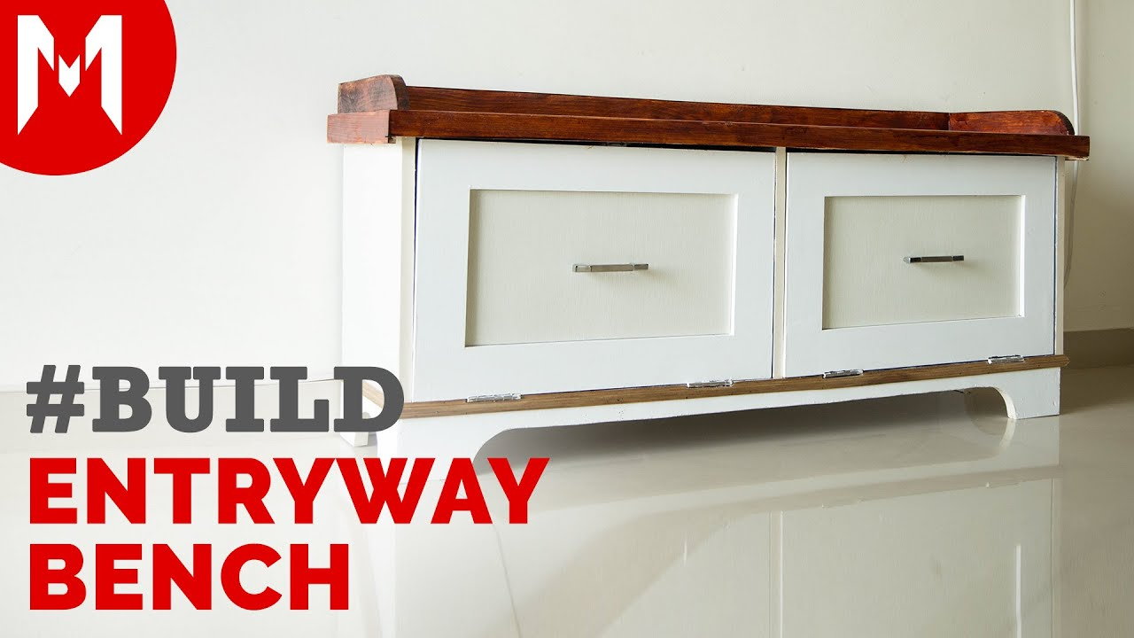 Entryway Bench With Storage   Build
