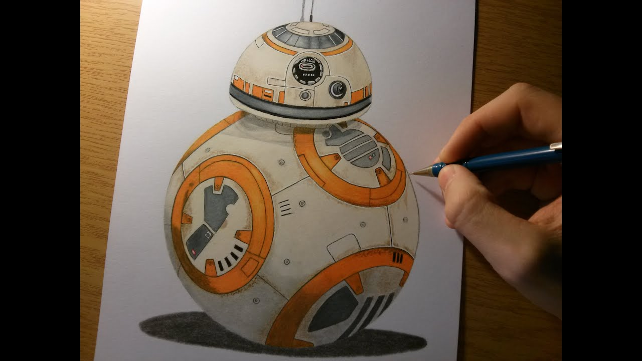 Drawing BB8 from Star Wars The Force Awakens - YouTube