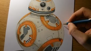 Drawing BB8 from Star Wars The Force Awakens