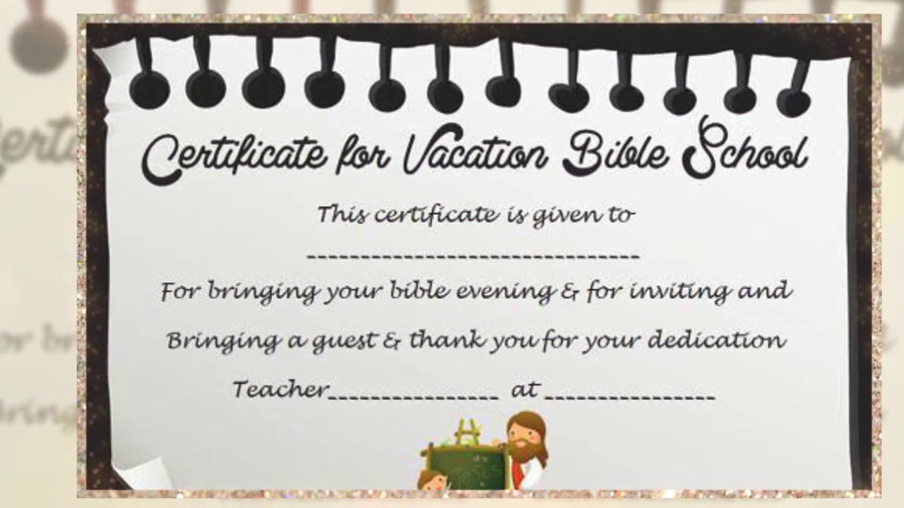 Vbs Certificate Template Youtube