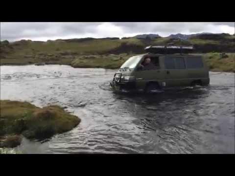ICELAND 2015 Offroad driving in Mitsubishi Delica L300 4WD