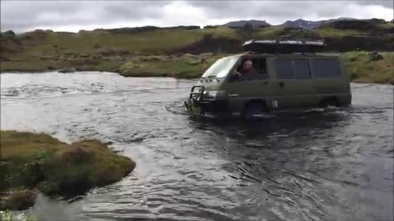 ICELAND 2015 Offroad driving in Mitsubishi Delica L300 4WD ...