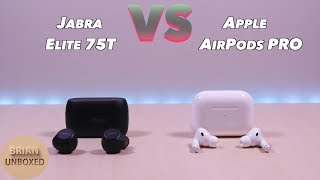Jabra Elite 75t vs Apple AirPods Pro - And the winner is? (Music & Mic Samples)