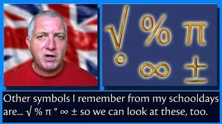 Math Symbols - English Vocabulary - Learn British English