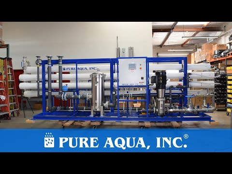 Food And Beverage Reverse Osmosis Equipment 270,000 GPD   Costa Rica   Www.pureaqua.com
