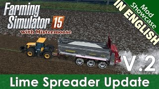 Farming Simulator 2015 - Lime Spreader PS3401 V2 (UPDATE) - Mod Showcase(Twitter: https://twitter.com/mrmgaming Facebook: http://www.facebook.com/MistermooseGaming In this episode of Farming Simulator 2015 with Mistermoose, ..., 2015-04-22T15:19:44.000Z)