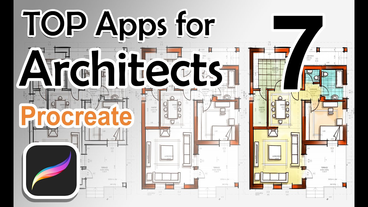 Top Apps For Architects Procreate Floor Plans Youtube