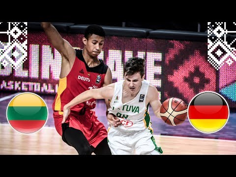 Lithuania v Germany - Full Game - Class. 5-6 - FIBA U18 European Championship 2018
