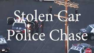 LAPD Chases Stolen Car - Sept 22nd 2017
