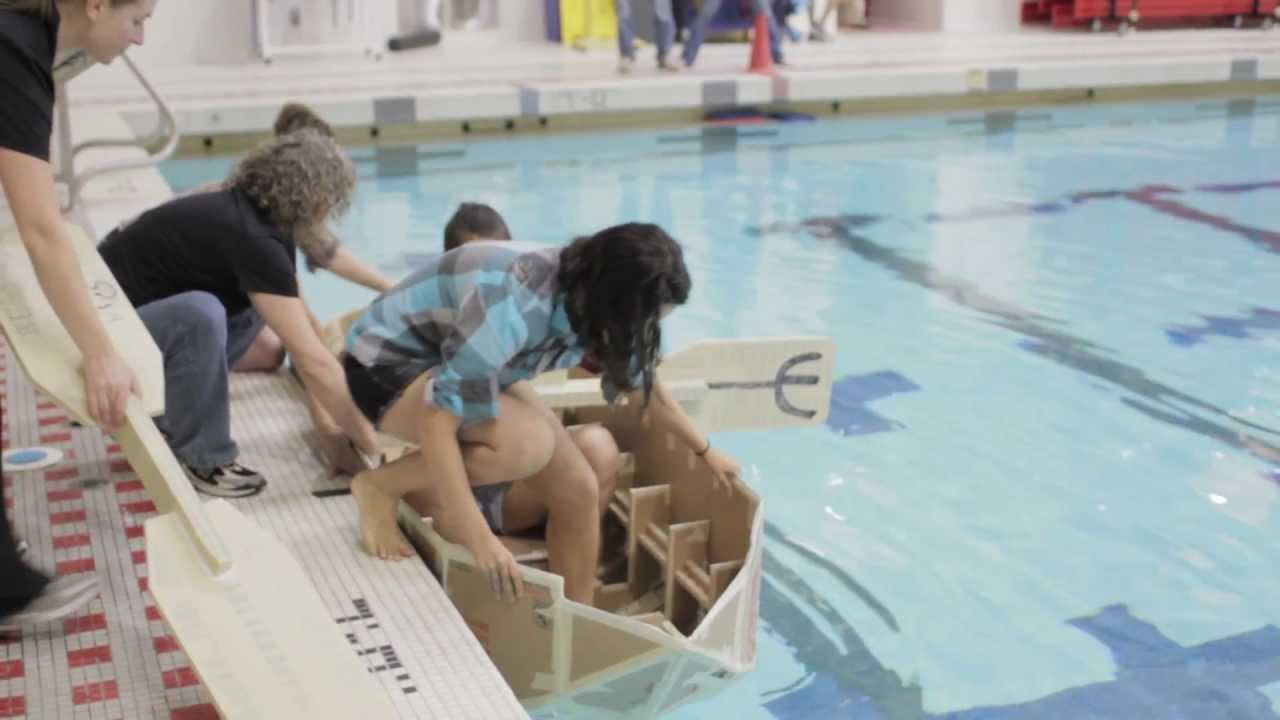 Mit S Annual Cardboard Boat Regatta Youtube