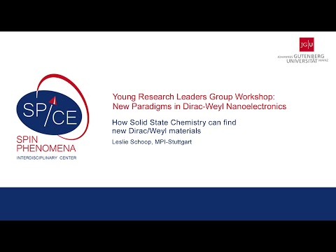 SPICE Young Research Leaders 2016 - Leslie Schoop - How Solid State Chemistry can find