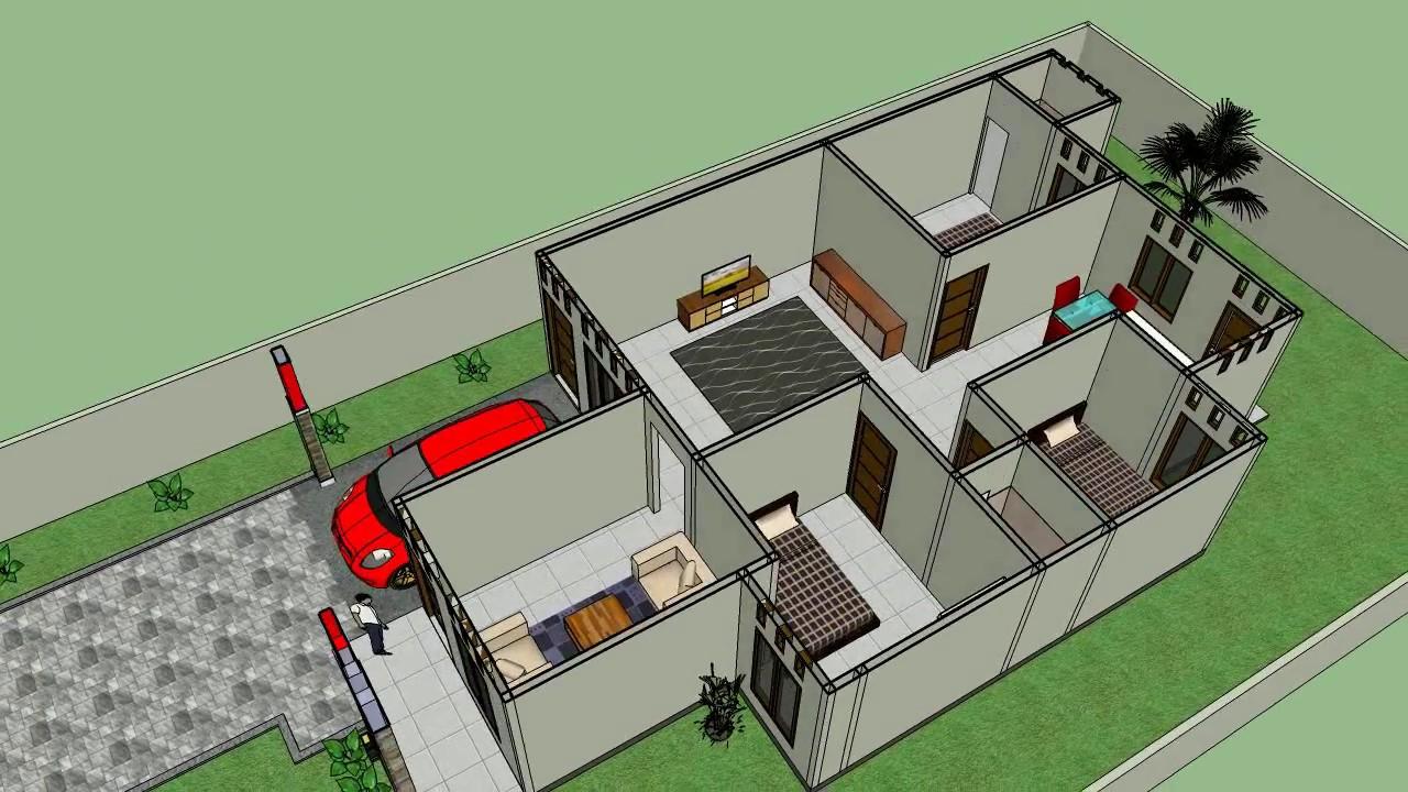 Desain Rumah Minimalis Luas 9X13 3 Kamar Tidur YouTube
