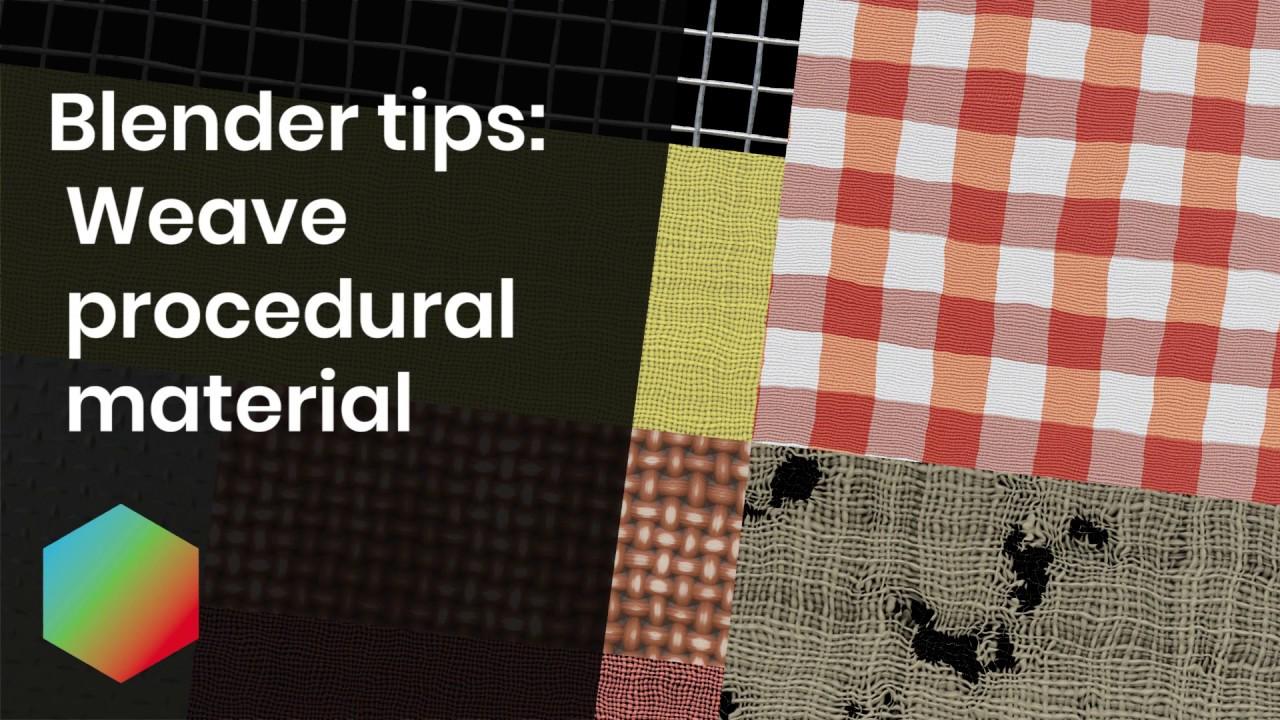 BlenderKit - Procedural Fabric materials