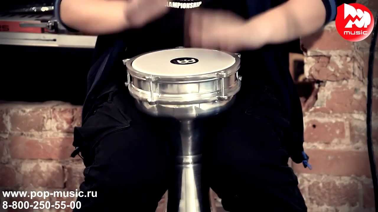 Универсальная дарбука для аккомпанемента и соло, с низким басом, игра на котором сопровождается ритмичным звоном джинглов!. Интересный в.