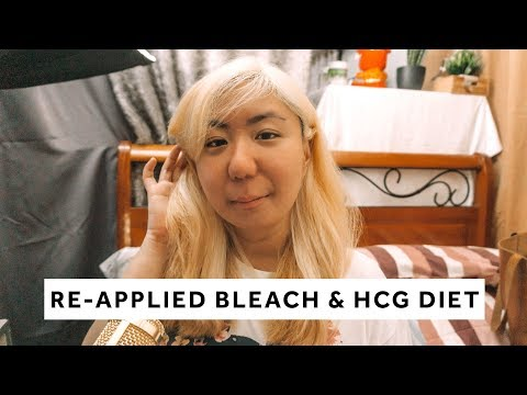 vlog-#28:-re-applied-bleach-and-hcg-diet-(500-calories-meal)!