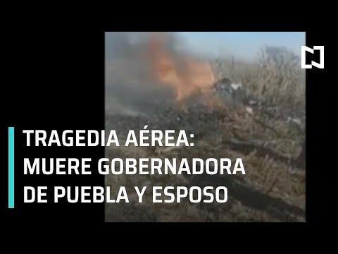 Tragedia aérea: mueren Gobernadora de Puebla y su esposo, Rafael Moreno Valle